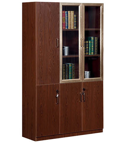 China Simple Design Large Standing Bookcase With Glass Door China