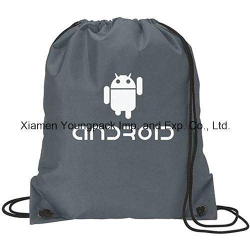 d7882d582a Custom Black Waterproof Nylon Drawstring Swim Backpack Swimming Beach Bag