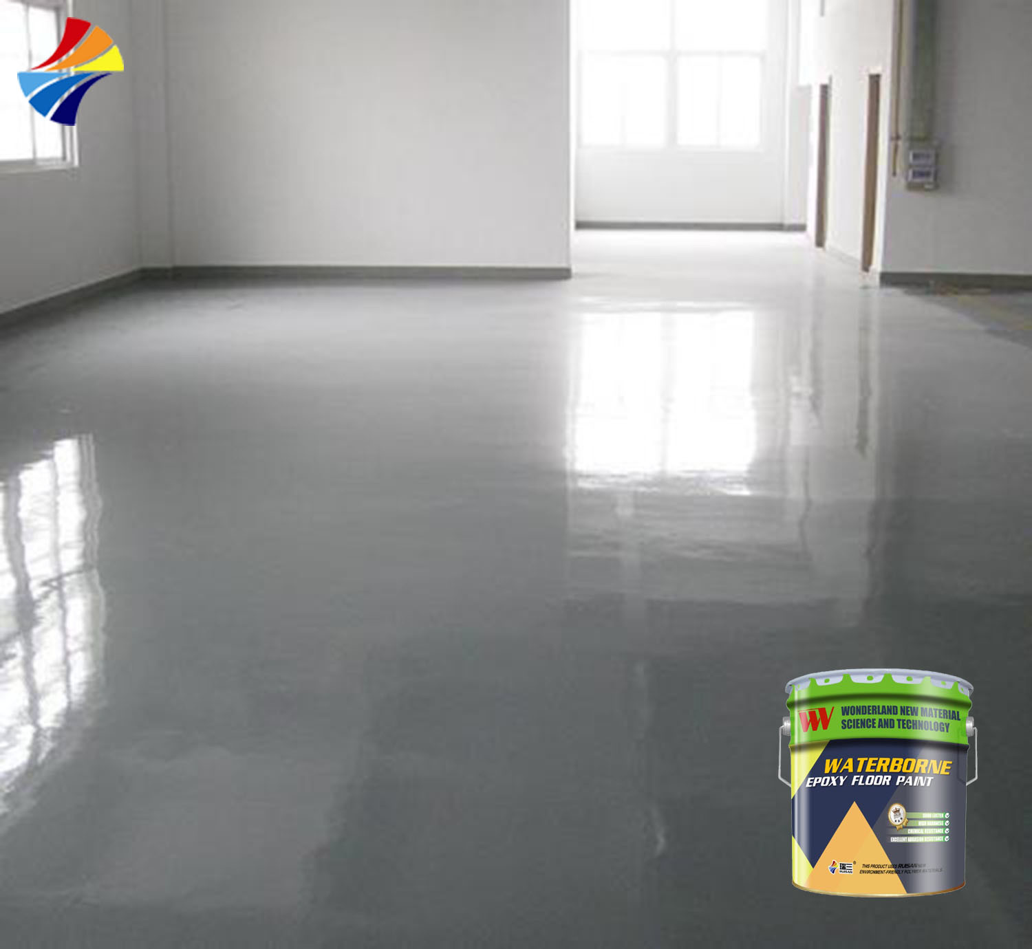 Hot Item We 8645 Anti Floating Color Waterborne Epoxy Curing Agent For Flooring Coating