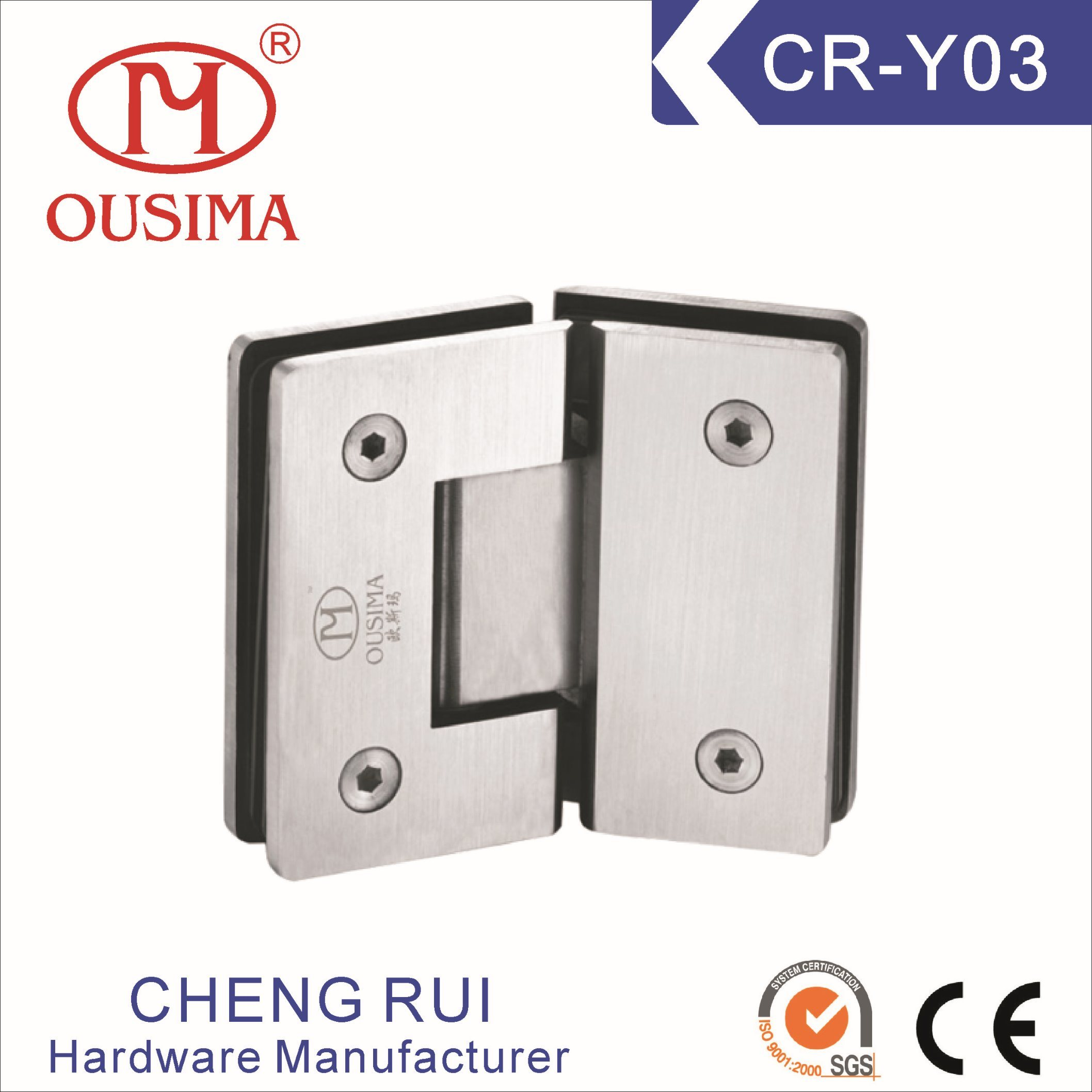 China Hot Sell Glass To Glass Shower Door Hinge For Glass Door Cr