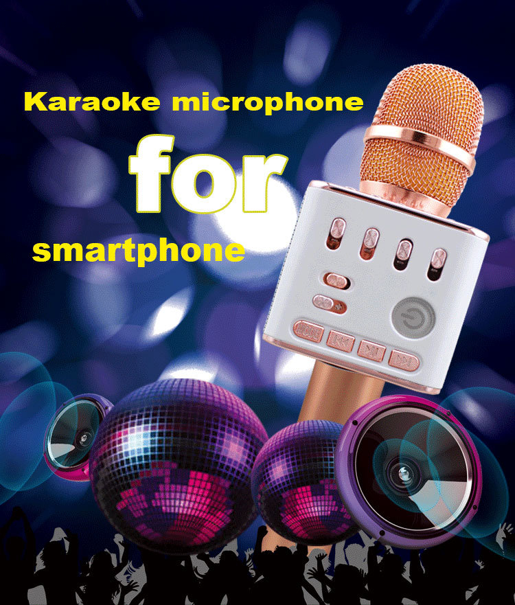 Wireless Recording Practice Singing Portable Speaker Karaok Micphone pictures & photos