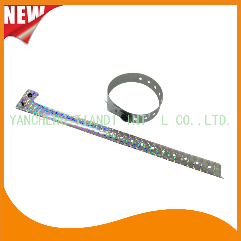 Entertainment Professional Holographic Material Glitter Event Wristbands (E8020J-2) pictures & photos