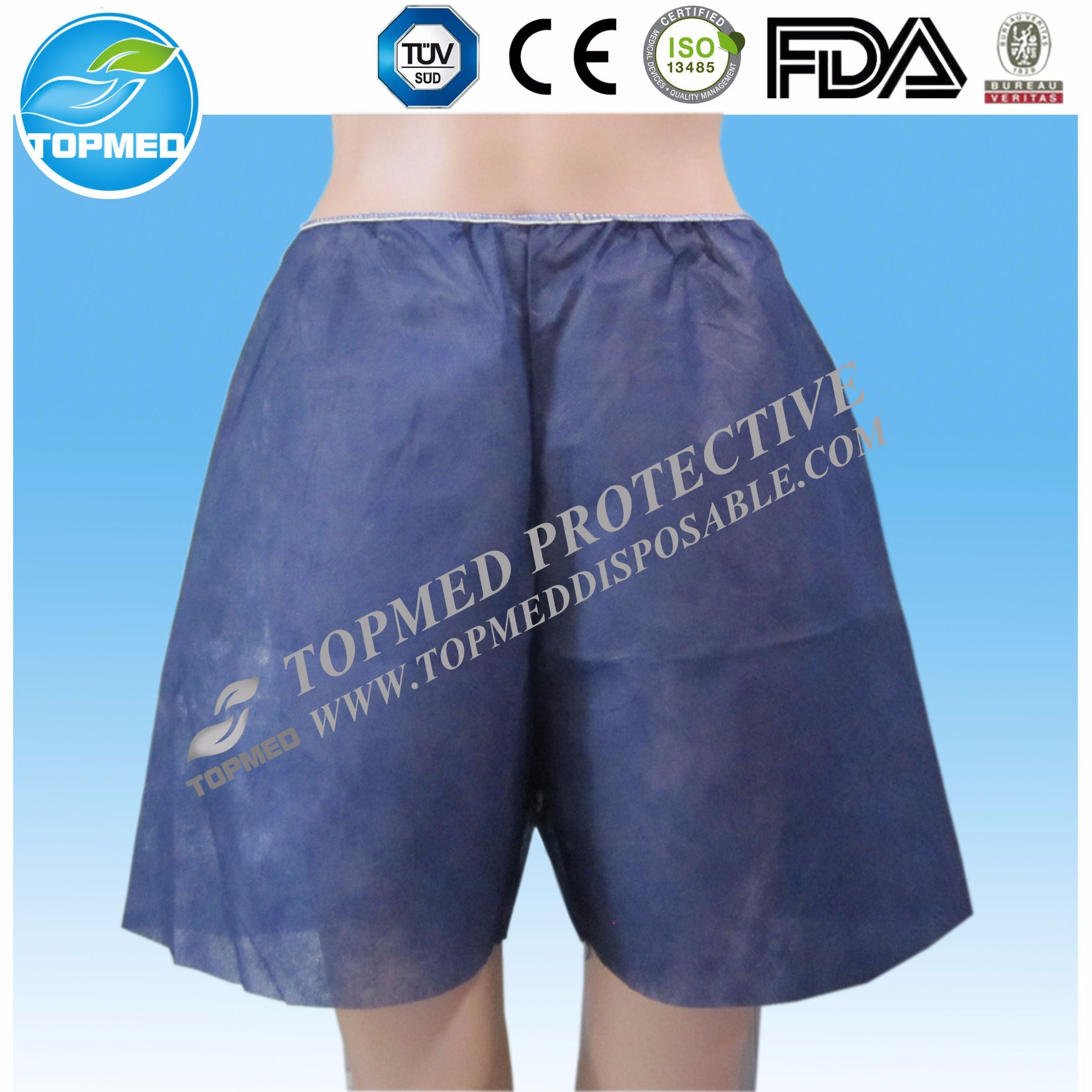 Nonwoven Boxer with Elastic on The Waist, Disposable Boxer pictures & photos