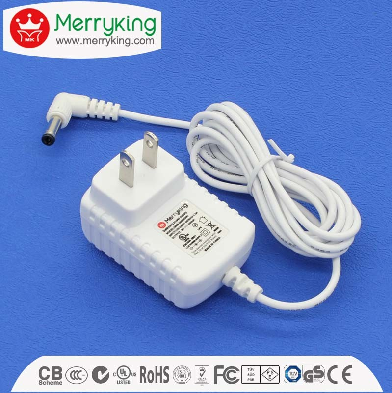 Wall Type UL Ce SAA Approved 50/60Hz AC DC Power Supply 12V DC Adaptor