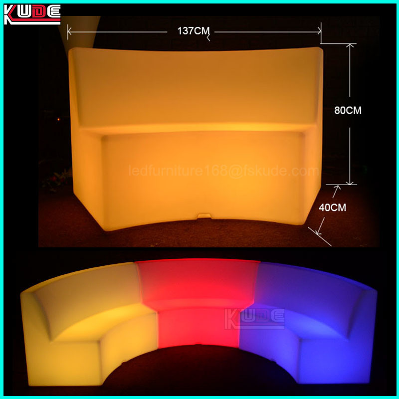 Outdoor PE LED Illuminated Furnitures Set