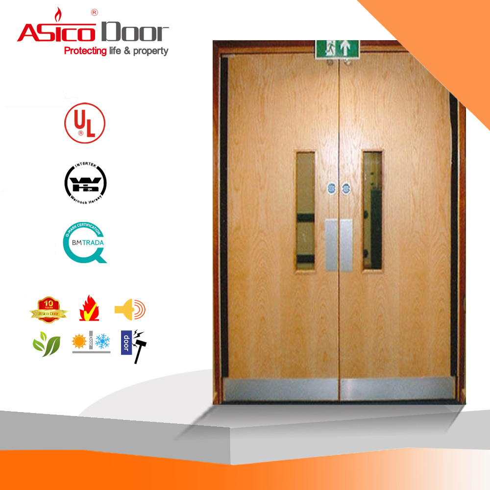 China BS 30, 60, 90, 120 Mins Fire Rated Wooden Door for School ...