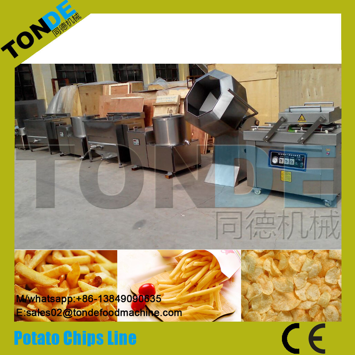 Semi Fully Automatic Fried Frozen French Fries Production Line pictures & photos
