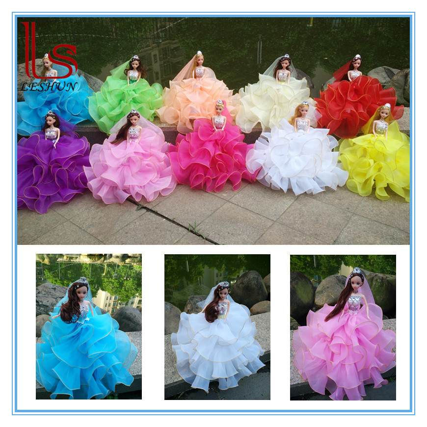 32cm Car Decoration Wedding Dress Dolls