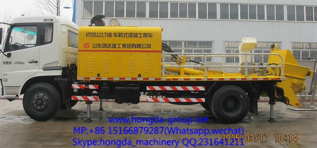 China Hongda Truck Mounted Concrete Pump