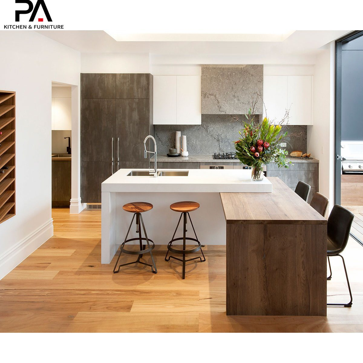 Hot Item Modern Simple Economical Wood Kitchen Cabinet Designs Table Side Cabinet
