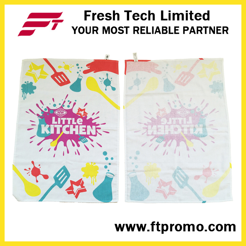 Promotional Printed Lightweight 100% Cotton Tea Towel
