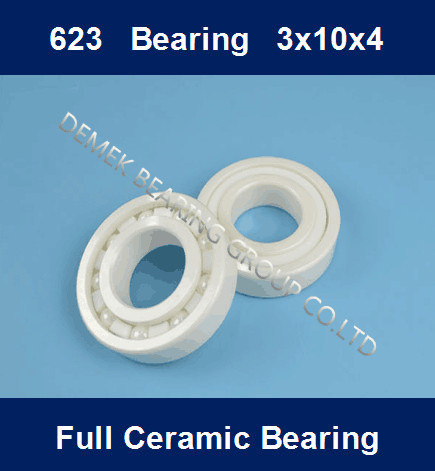 China Full Ceramic Miniature Ball Bearing 623 3X10X4 - China