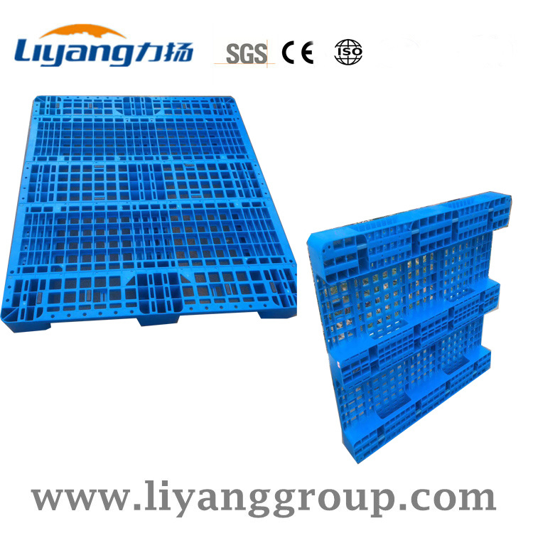 China Mesh Design Three Runners Plastic Pallets Standard Size