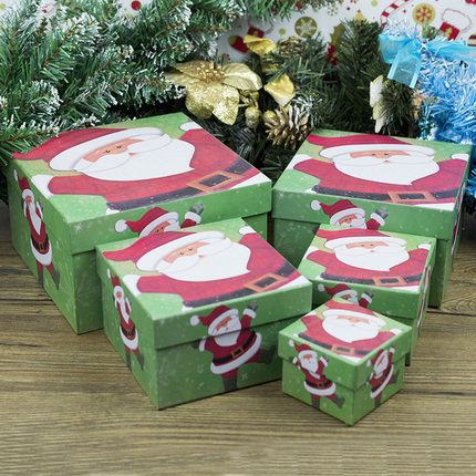 festival music diy christmas box christmas eve gift box paper box candy box cartoon creative basket