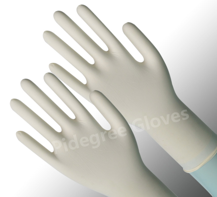 China Sterile Latex Surgical Gloves Powdered Disposable