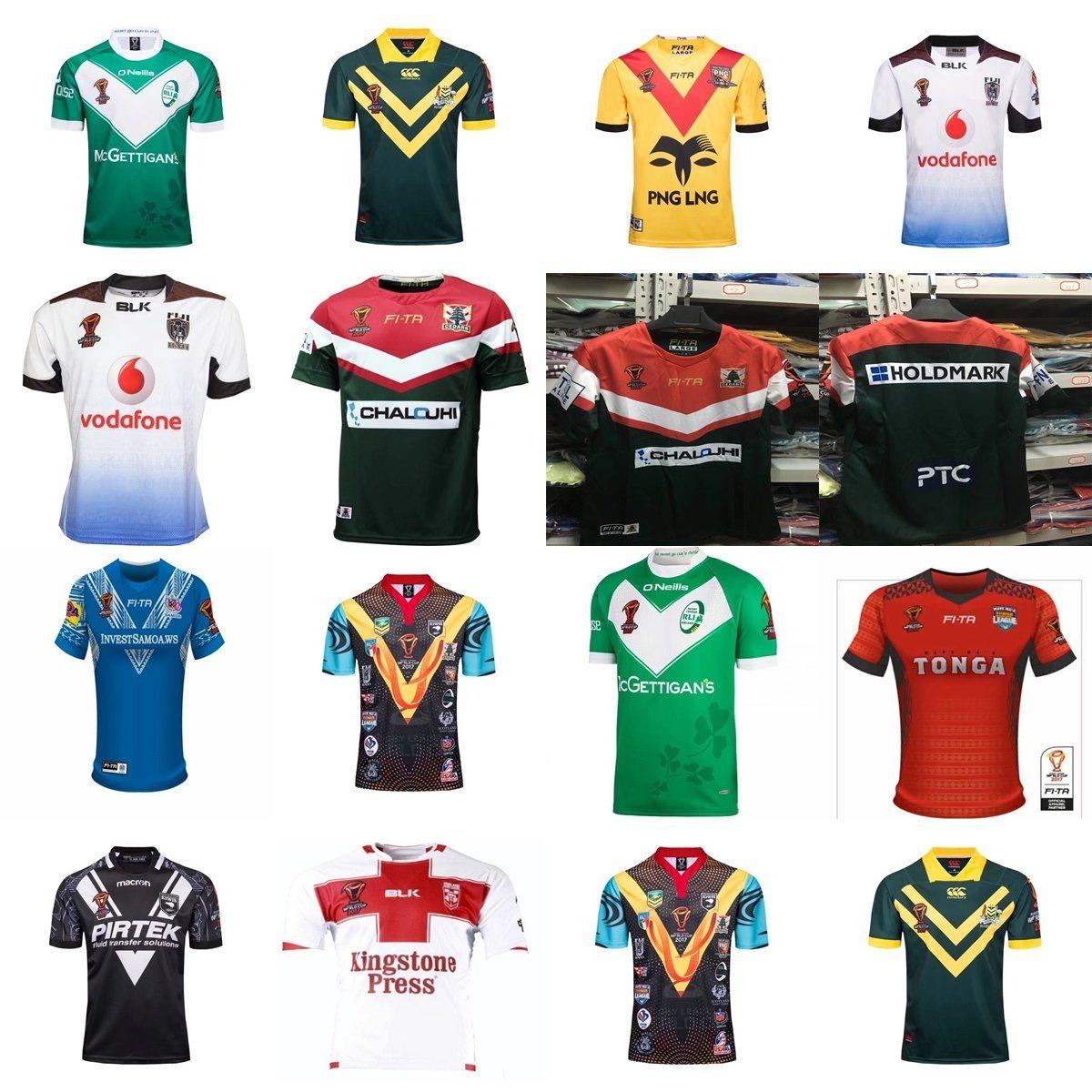 China 2017 World Cup Australia Tonga England New Zealand Rugby Fashion Big Size T Shirt France 4xl Jerseys
