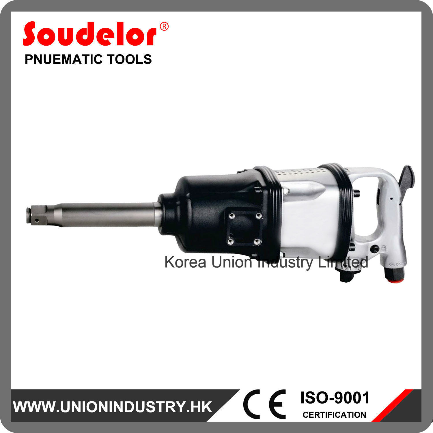 [Hot Item] 1 Inch Pneumatic Tool Industrial Quality Snap on Impact Wrench  Ui-1208
