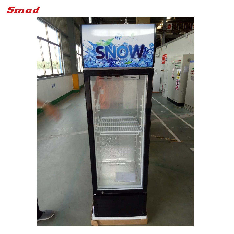 China Supermarket Single Glass Door Upright Display Showcase