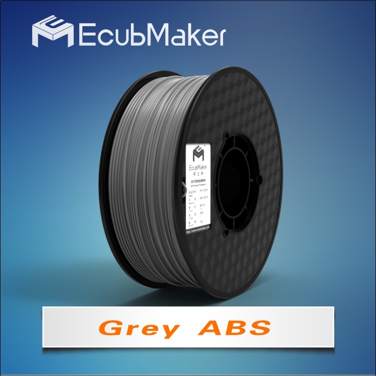 1.75mm ABS Filament for 3D Printer Grey Color