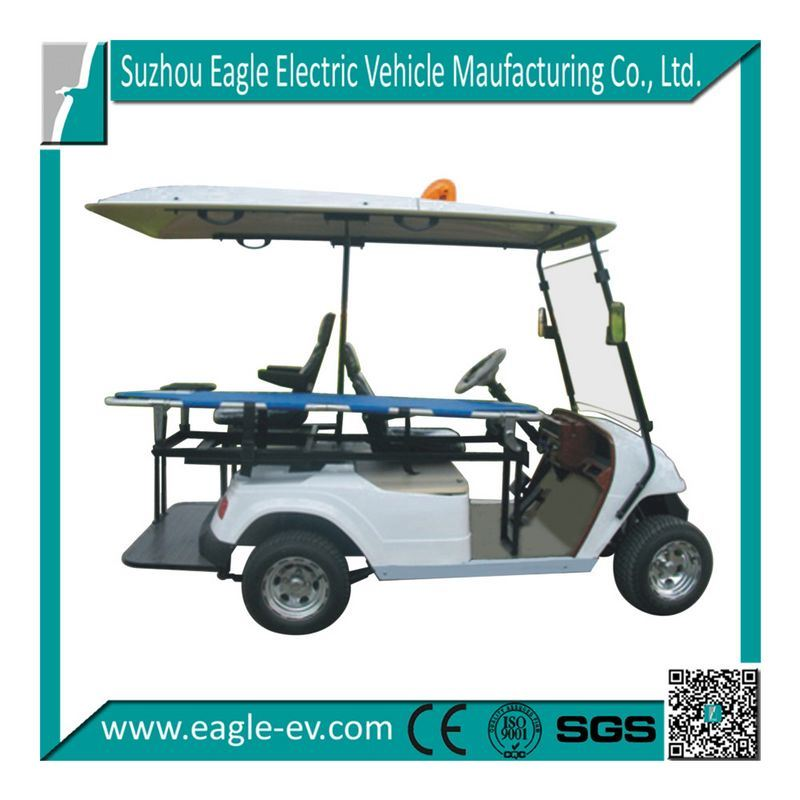 China Ambulance Golf Cart, Pure Electric, 48V 4kw, DC Motor, Plastic on