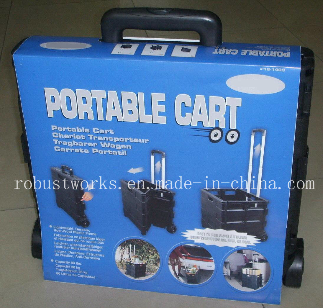 Portable Plastic Folding Shopping Cart (FC403K-3)