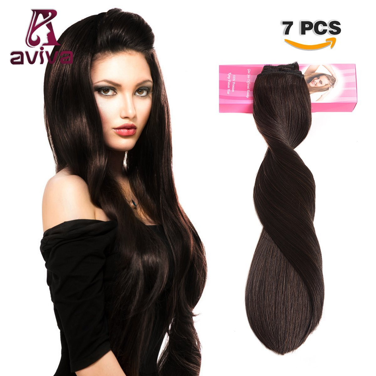 China Full Head 7pcs Sets Clip In Hair Extension Brazilian Hair
