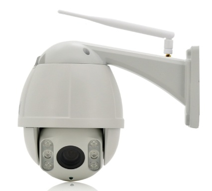 Mini 4X Auto Focus Auto Zoom Network IP PTZ Camera