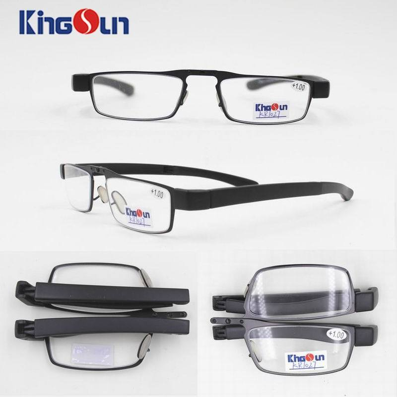 Folding Metal Frame with PC Temple Reading Glasses