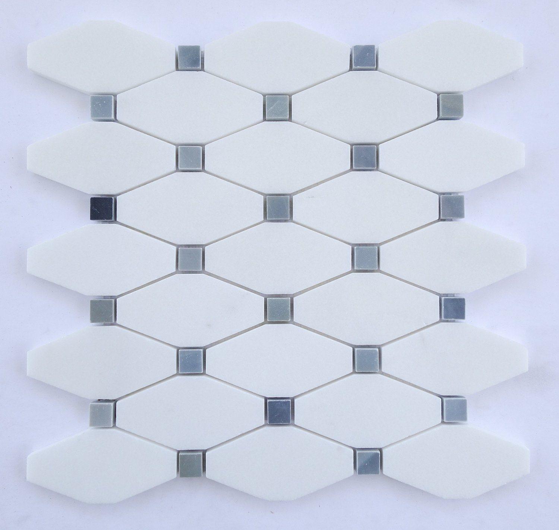 China Decorative White Thassos Long Octagon Mosaic Tiles Photos ...