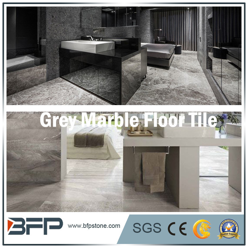 China Grey Natural Stone Tiles And Marbles For Flooring With