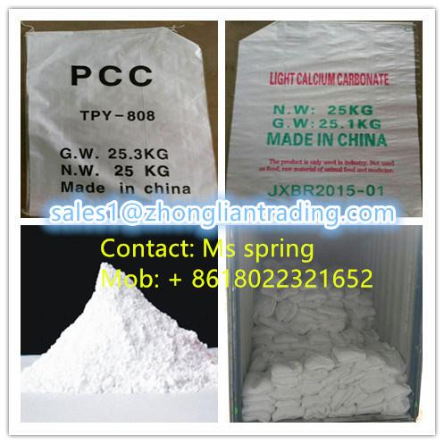 China High Quality of Precipitated Caclcium Carbonate for