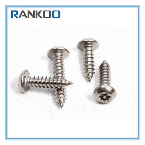No.6 A2 STAINLESS STEEL TORX PIN 6 LOBE BUTTON HEAD SELF TAPPING SECURITY SCREWS