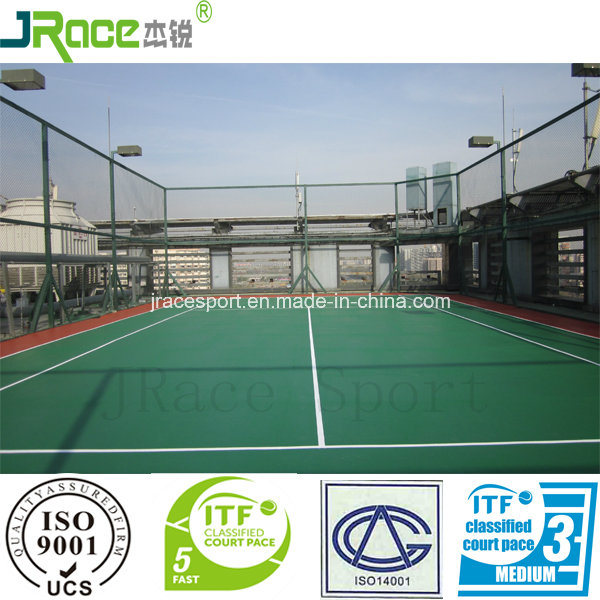 Good Cushion Effect Sport Surface Tennis Court Outdoor Sport Floor