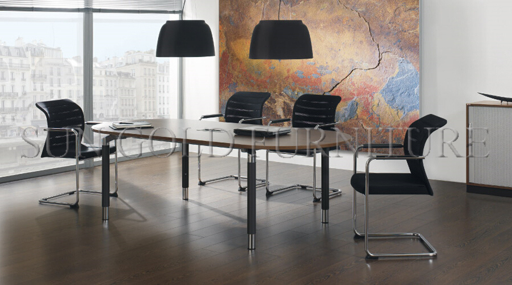 China Modern Quarter Round Curved Wooden Movable Office Conference - Curved conference table