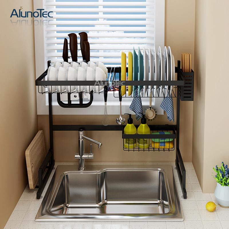 Hot Item Space Saver 65cm Strong Black Drainer Dish Holder Kitchen Sink Drying Rack