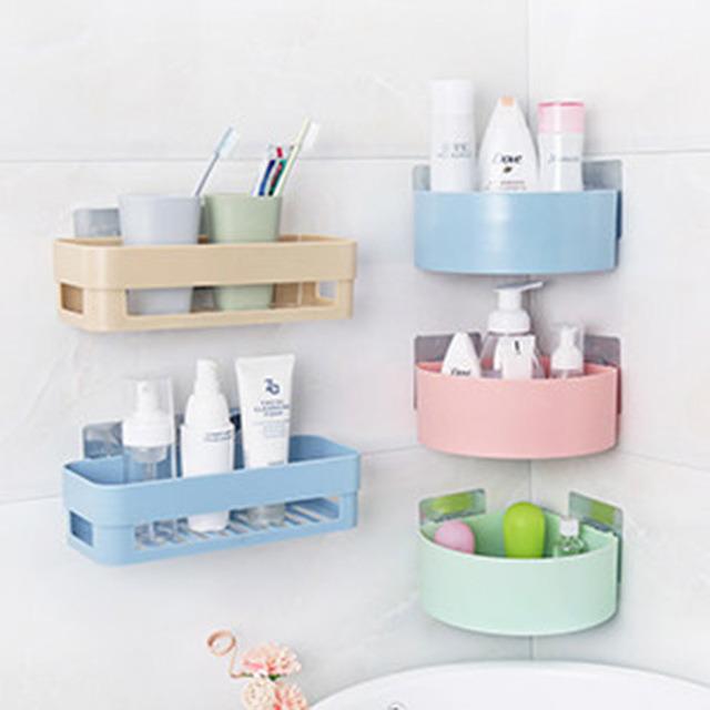 Punching Bathroom Shelf