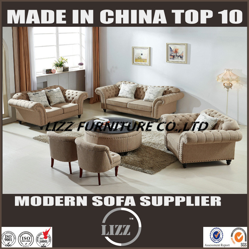 China New Style Fashion Living Room Fabric Sofa Set With Good Quality