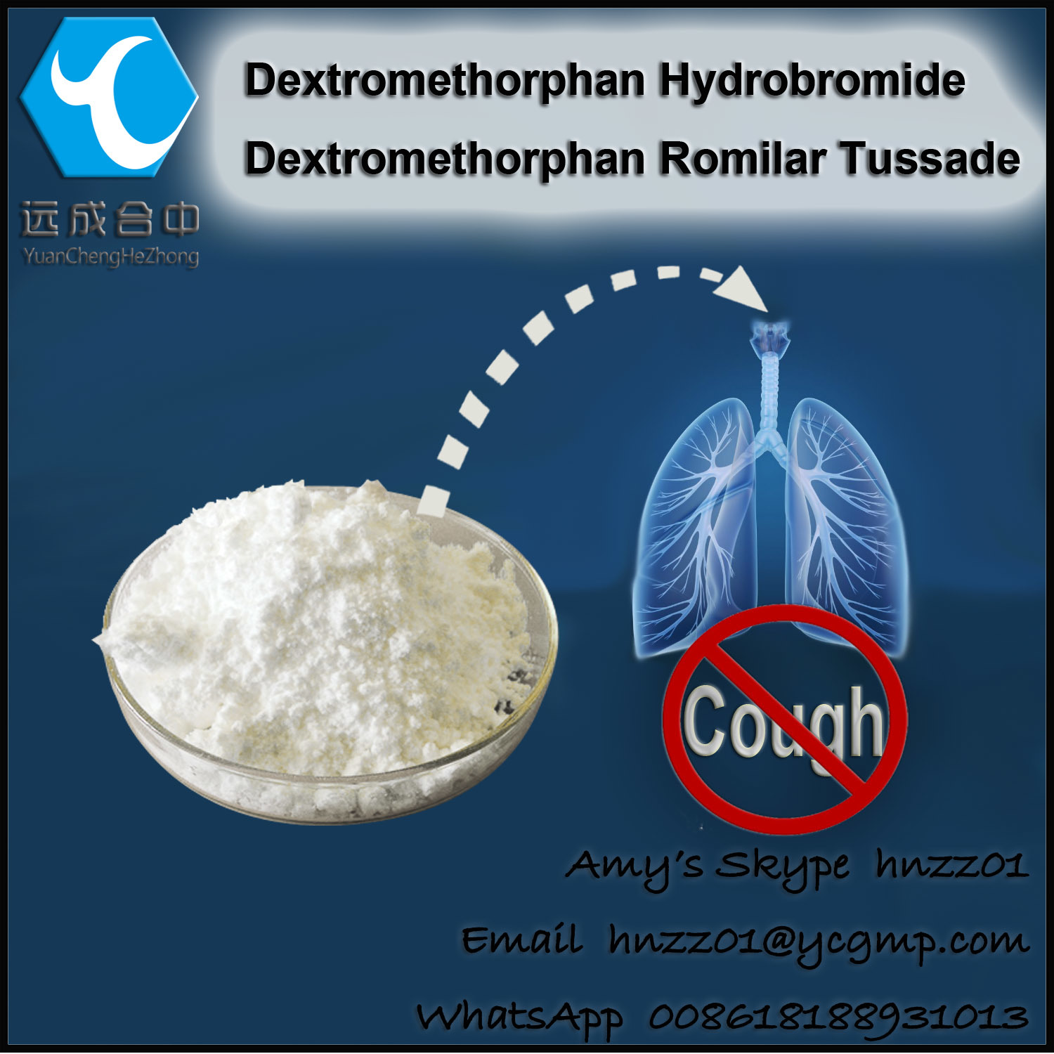 [Hot Item] DXM Hydrobromide Pharmaceutical Raw Powders Central Nervous use