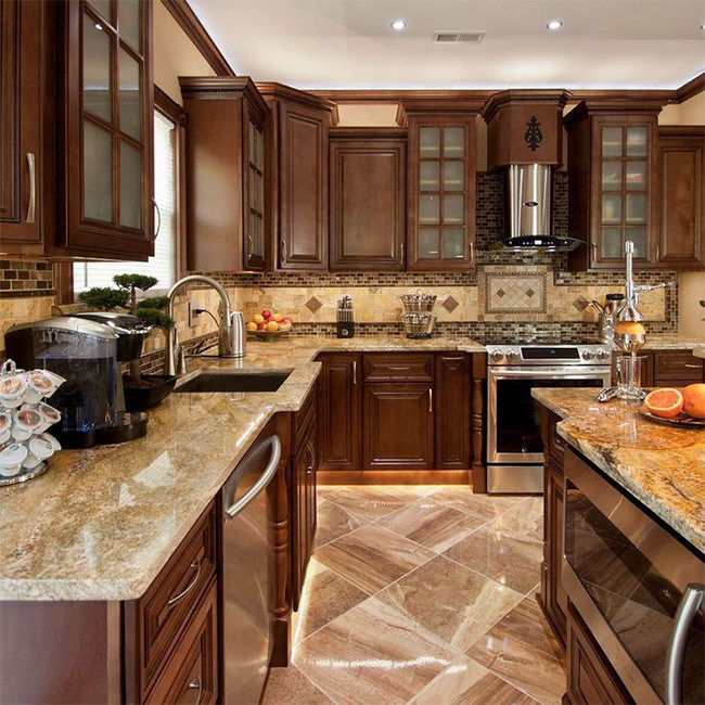 China Luxury Solid Wood Best Kitchen Cabinets Teak Wood ...