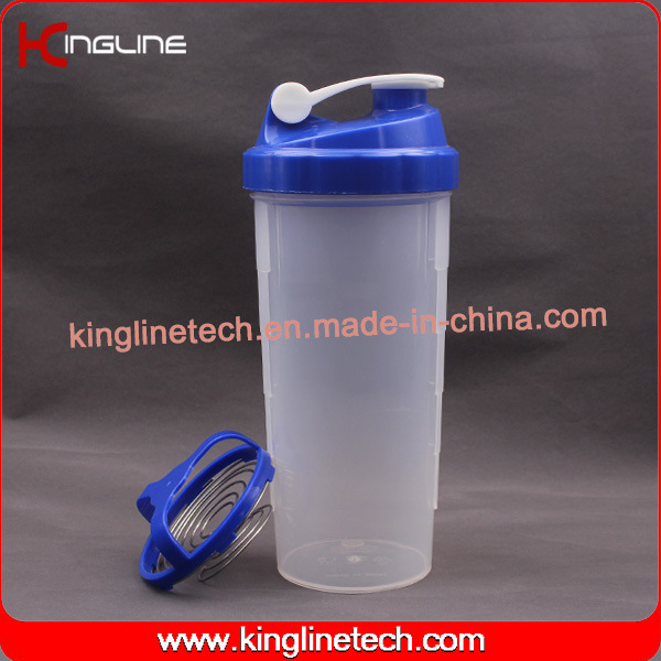 700ml Plastic Protein Shaker Bottle with Stainless Blender (KL-7007)