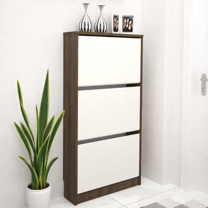 China Hot Home Furniture Shoe Cabinet Wood Modern Rack Living Room