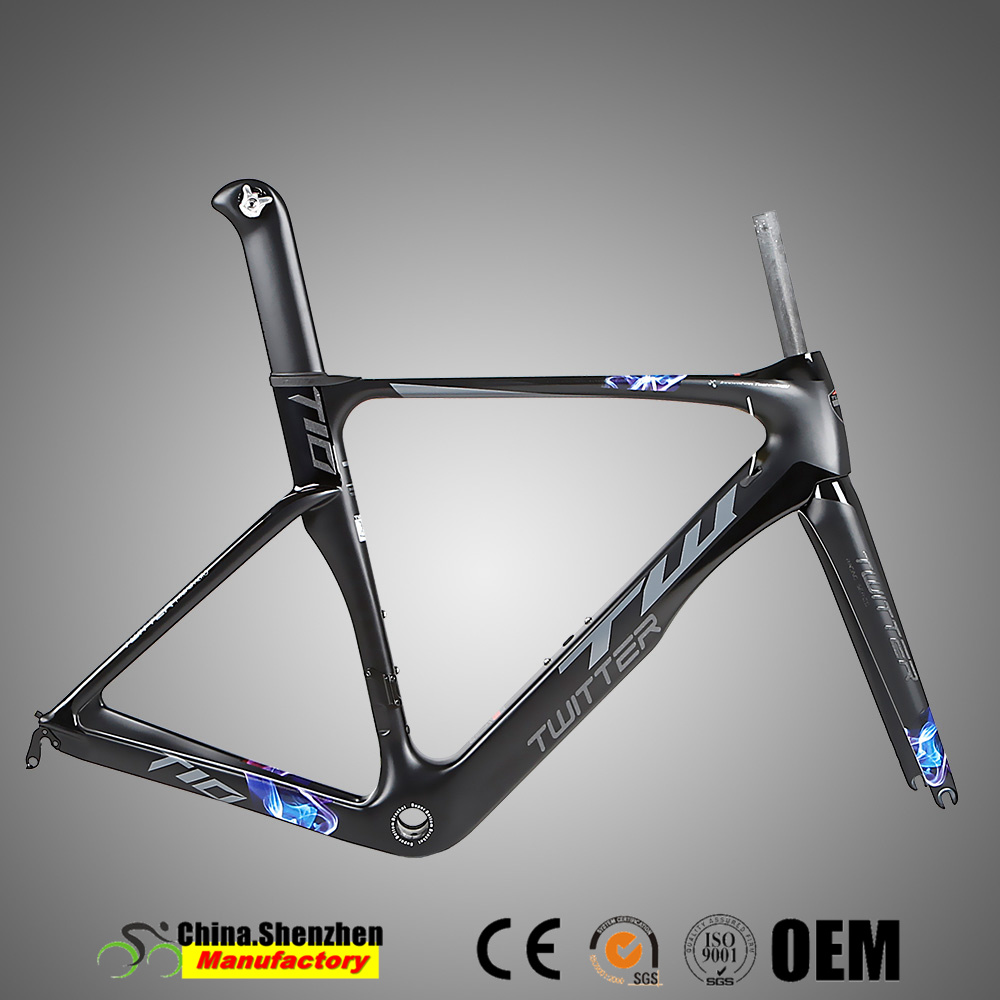 China Bsa68 Thread 700c carbon Road Bike Frame for Sale - China ...
