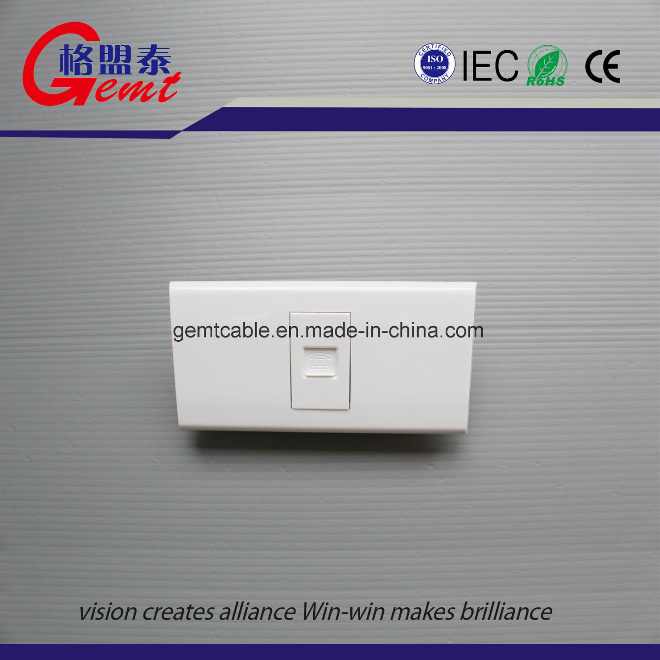 China New Design Hot Sale Double Socket Outlet, EU Double Wall ...