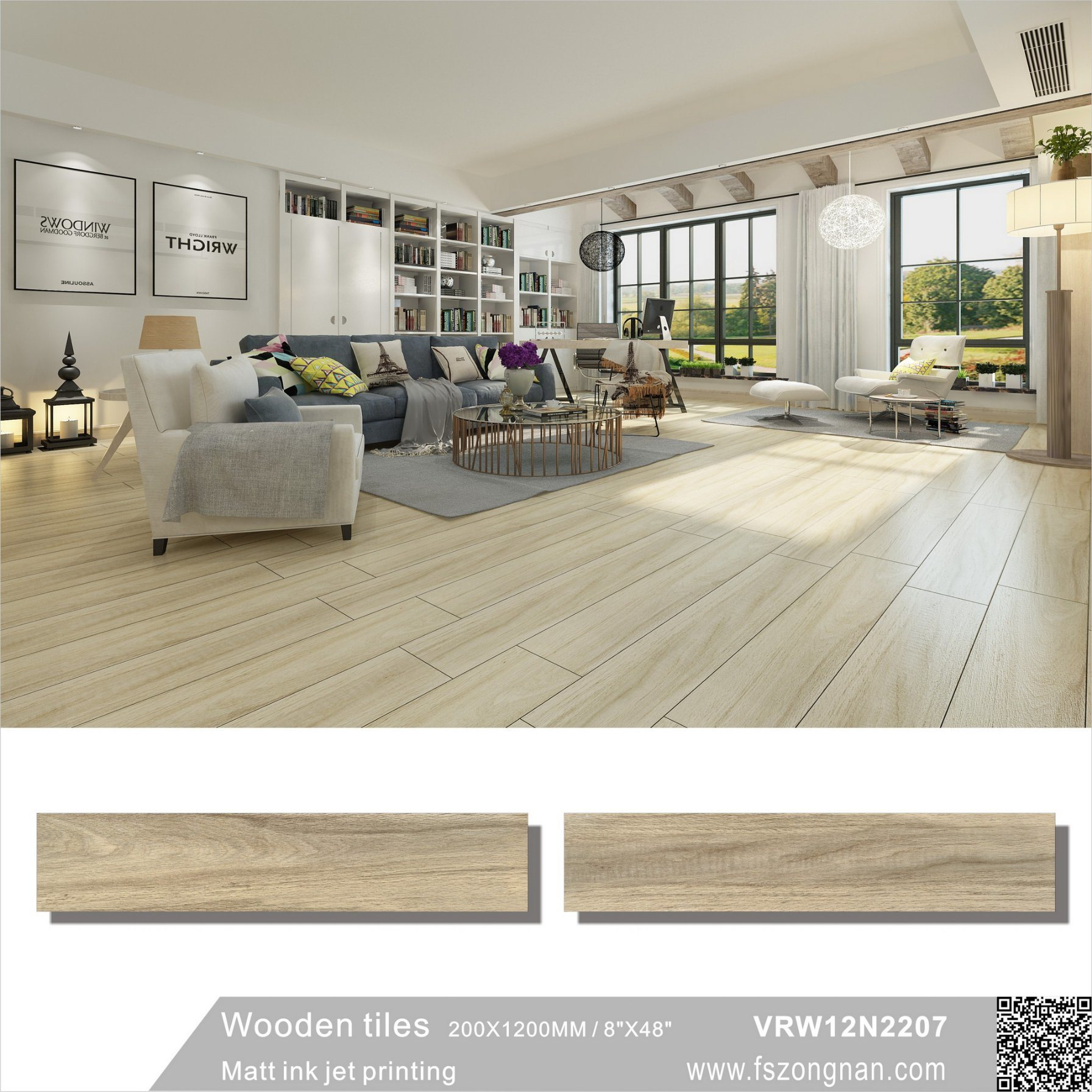 China Building Material Wooden Porcelain Floor Inside or Outside ...