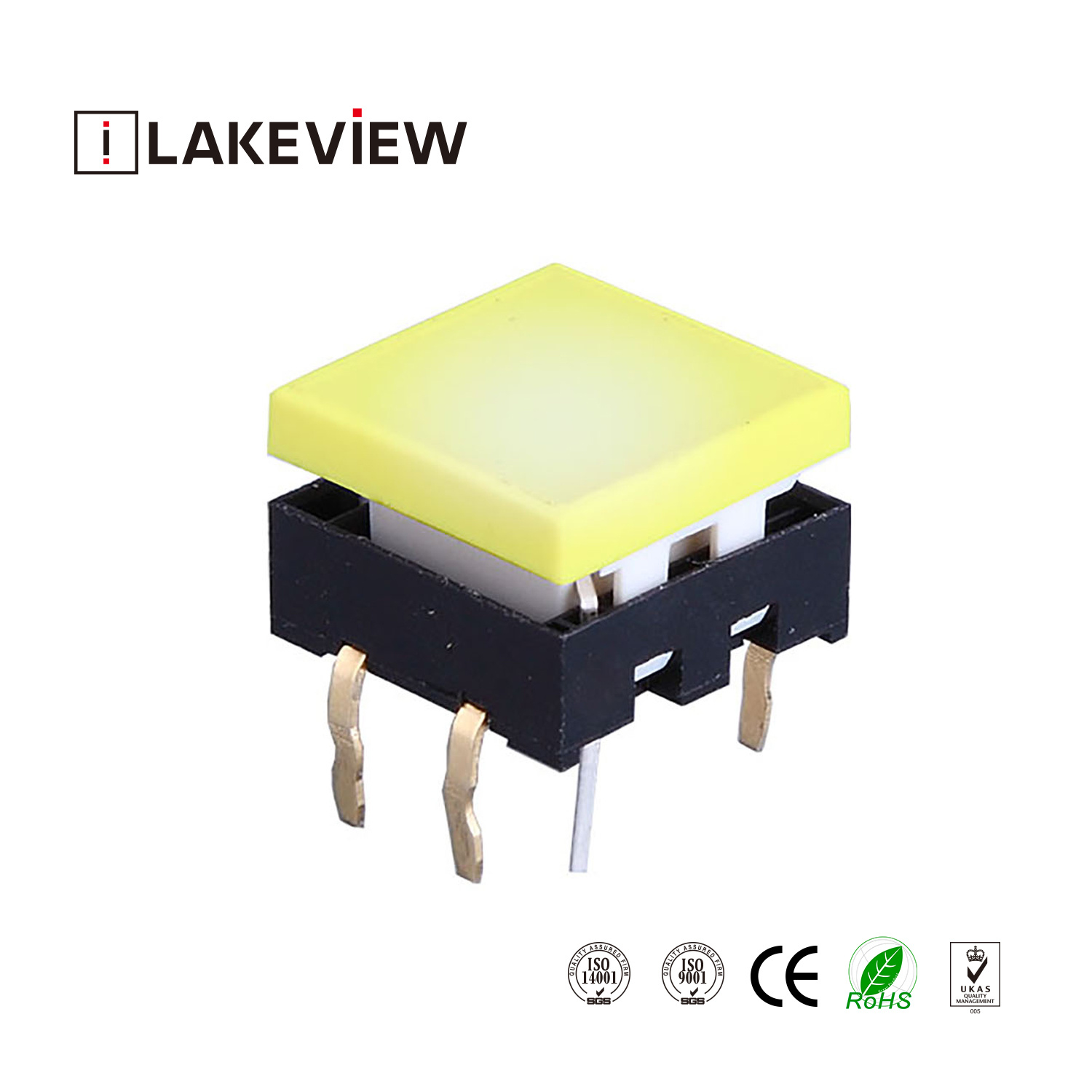 China Newest 15mm Square Illuminated Tactile Switch with LED ...