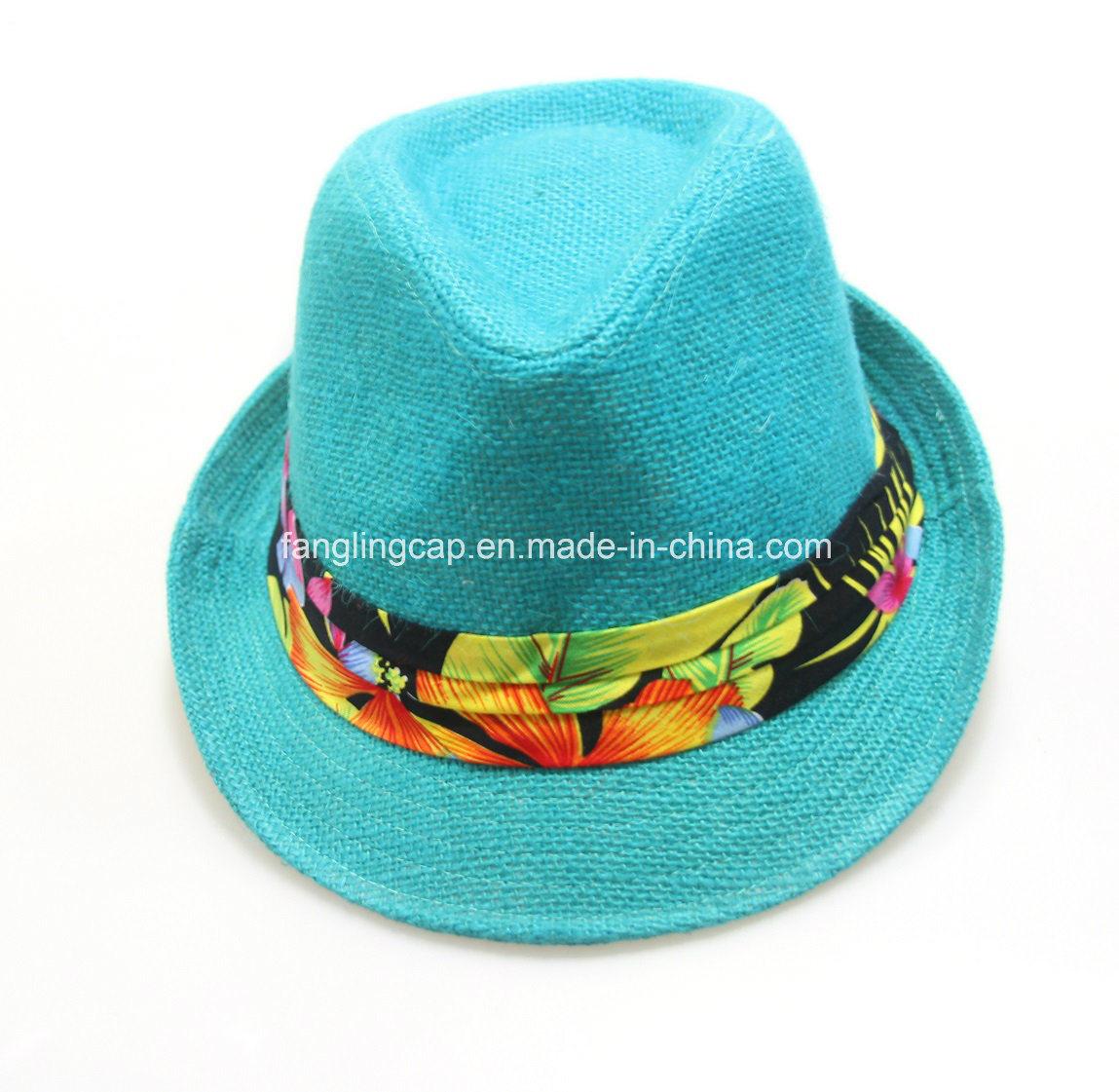 China Summer Straw Women Hats Fashion Decorate Unisex Paper Fedora Hat -  China Hat 06cef3ab6db
