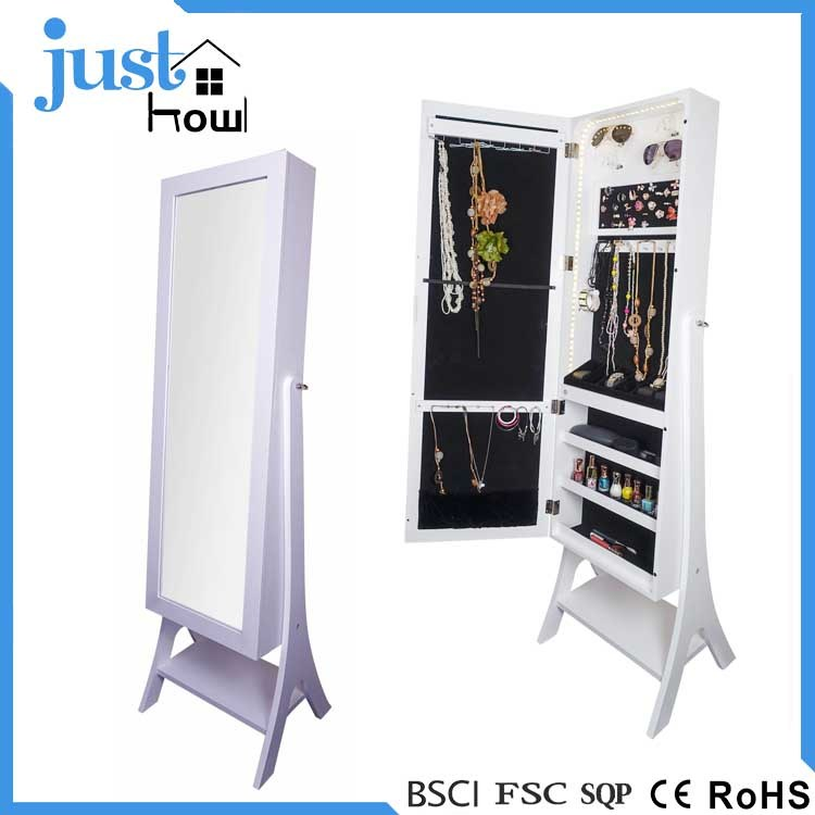 China Makeup Jewelry Armoire Free Standing Jewelry Cabinet Mirrored Jewelry Armoire China Jewellery Mirrored Cabinet Home Furniture Cabinets