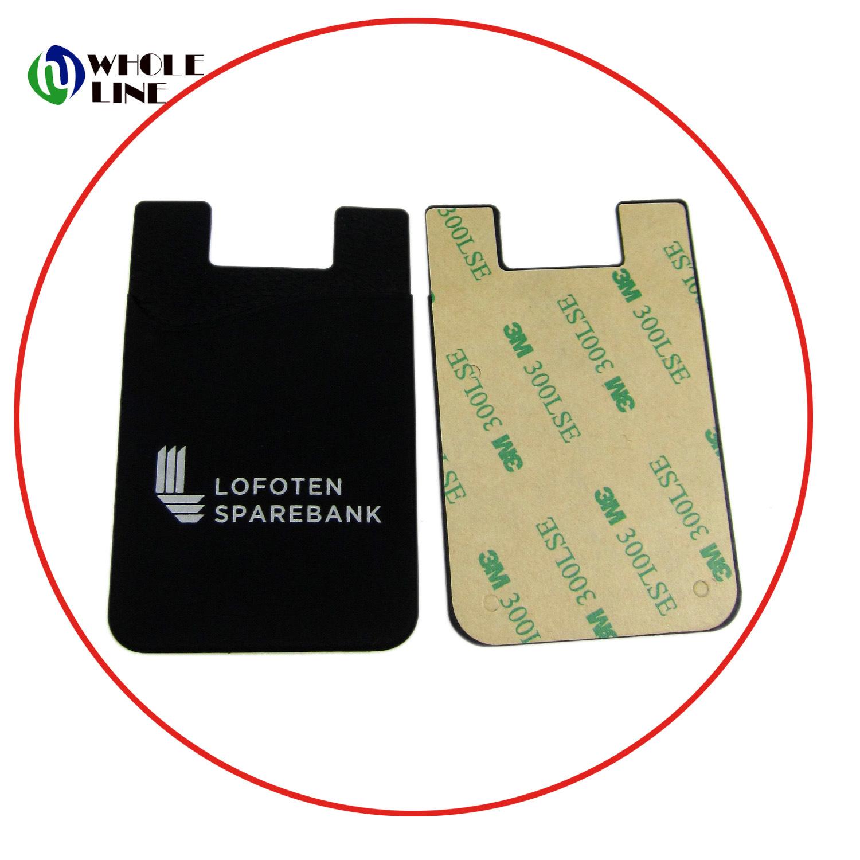 China 3m adhesive stickers cheap silicone cell phone smart pocket china card holder pocket wallet credit card pocket