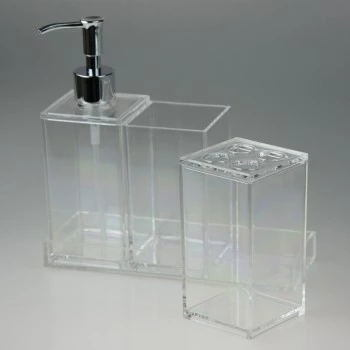 Multifunctional Acrylic Bathroom Accessories Organizer Toothbrush and Toothpaste Holder/Stand