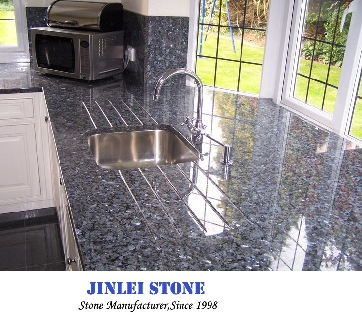 Blue Kitchen Tiles >> Hot Item Polished Natural Blue Pearl Granite Marble Tiles For Bathroom Wall Kitchen Wall Flooring Countertop